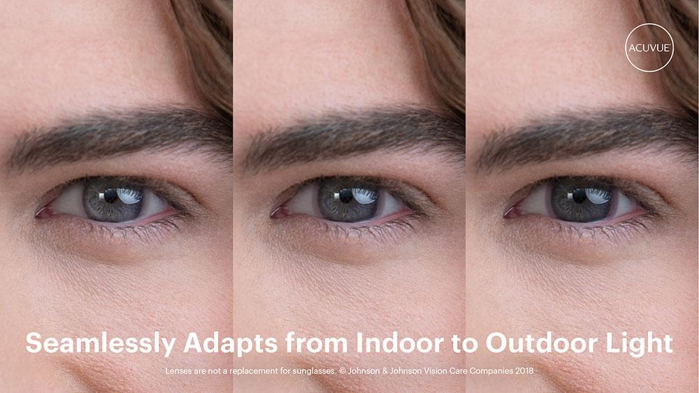 As primeiras lentes de contacto que ficam escuras com a luz solar, Como vão ficar nos seus olhos?